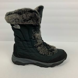 The North Face Fur Lined Tall Lace Up Ankle Boots